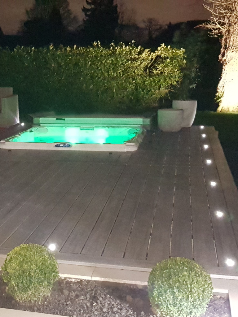 decking hot tub