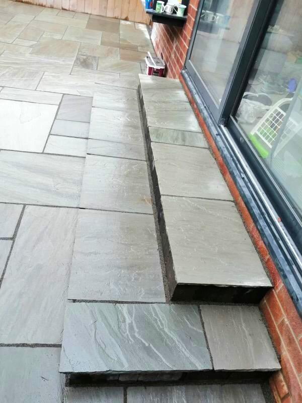 grey indian sandstone patio 2