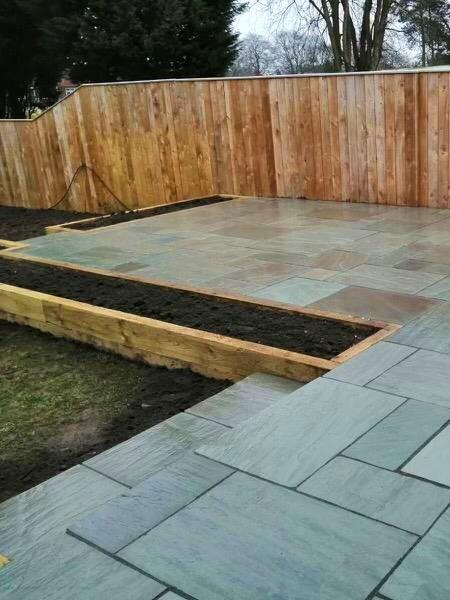 grey indian sandstone patio 3